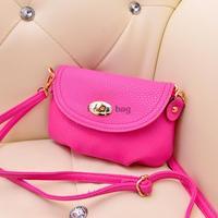 PU leather small handbag messenger bags clutch Korean fashion handbag  PU small clutch bag casual fashion  shoulder bag