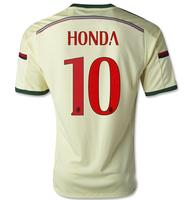 14-15 AC miland jersey AAA+++thailand Ac milan away  HONDA  NO.10 jersey,customized name number AC miland home soccer jersey