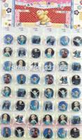 2014 Hot Sale Frozen Party Favors New Arrival!frozen Princess Badge 30mm 1 Sheet 48pcs/lot Badges Button Fashion Pin Wholesale