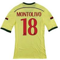 14-15 AC miland jersey AAA+++thailand Ac milan away Montolivo  NO.18  jersey,customized name number AC miland home soccer jersey