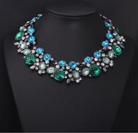 2014 New Arrival Crystal Z Statement Resin Big Brand New Shourouk Green Luxury Gem Drop Vintage New Design Jewelry 8915