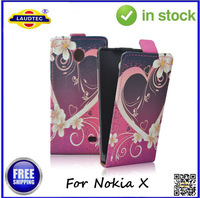 IN STOCK Slim Leather Flip Case Flower Flip Leather Case for Nokia X XL Free Shipping Laudtec