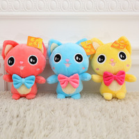 18CM 7in new Cute Big eyes tie cat Doll plush toy Doll Stuffed Animals Baby Toy for Children Gifts Wedding Gifts Couple gifts