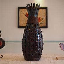 Art vase set handmade bamboo flower fashion classic floor vase personalized dried flowers(China (Mainland))
