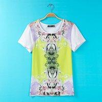 2014 summer new fashion women's T-shirts cheap shirt printing S-L BJ1473