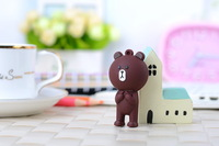 top quality bear animal line cartoon theme of creative U Disk full 2GB 4GB 8GB silicone usb flash drive memory stick pen drive