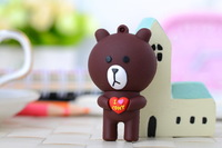 2014 coffee lovely coffe bear animal line cartoon U Disk full 8GB 16GB 32GB 64GB silicone usb flash drive memory stick pendrive