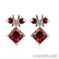 2014 New design Swiss Zircon Stud Earrings ( 6 Colors)  Austrian Crystal top Quality Stud earrings for women (FE-123)