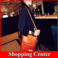 2014 new Women's Candy Color Bucket Bag Shoulder Messenger Bag Satchel hot sale dropshipping