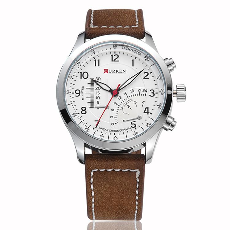 CURREN Man Quartz Watches,Military Movement Waterproof Wristwatch,Free shipping(China (Mainland))