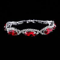 New fashion brand luxury water drop bracelet crystal jewelry silver-plated bracelets bangles for women pulseras blue bracelet