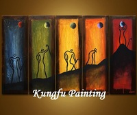 5-5031 100% handmade unframed decoration oil painting colorful modern abstract painting wall art living room picture