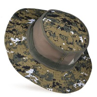 High Quality New Hats for Men Outdoor Fishing Hiking Camping Boonie Snap Brim Military Bucket Sun hats  Buckle caps