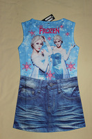 Fashion Girls Frozen Peppa Pig clothes Queen Elsa Anna dress Girls Children Kids cartoon princess