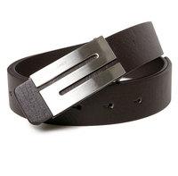 NEW arrival Men's Belt  PU Leather Premium S Shape Metal Buckle  Strap 3 color