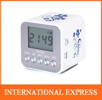 Free shipping! Digital Mono Mini Speaker Micro SD TF Card USB Disk Audio Amplifier MP3 Music Player FM Radio wholesale