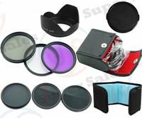 58MM UV CPL FLD ND 2 4 8 Filter Kit  Flower Petal Camera Lens Hood  for Canon EOS 1100D 700D 650D 600D 18-55mm