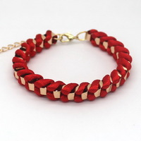 Hot Sale Of Incredible Hand-Woven Knitting Cotton Rope Popular Red Bracelet With Free Shipping