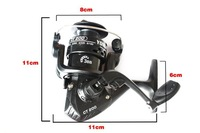 Promotion Black Plastic Spinning Fishing Reel Small Cheap Reel 3BB 5.2:1 Left/Right interchangable Handle Sea/Saltwater Reel