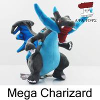 "Free shipping 5pcs/lot Pokemon XY Plush Toys 8"" 21cm Mega Evolution Charizard Soft Stuffed Toy Animals Doll Wholesale"