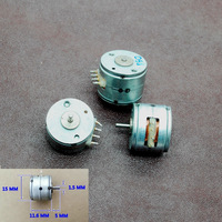 New 5pcs Japan dia 15mm Micro stepper motor  2 phase 4 wire  stepper motor small stepping motor