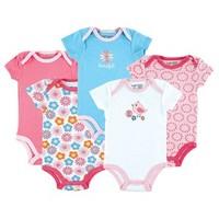 5 Pieces/lot  Summer Boutique Baby Girl's Romper Fashion Cotton Toddler Jumpsuit,Infant Carters Clothing Set Wear