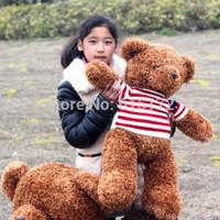 1pc New Kawaii Cute Big Giant 80cm Brown Teddy Bear Stuffed Animal Plush Toy Soft Doll For Girl Birthday Gift Brinquedo menina