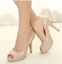 Frete grátis 2014 Outono Mulheres Bombas ! Barato venda de damasco preta fina Salto Alto Open- Toe do vintage mulheres sexy sapatos de casamento(China (Mainland))