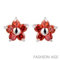 2014 Brand New Swiss Zircon Stud Earrings ( 5 Colors) Austrian Crystal top Quality Stud earrings for women (FE-174)