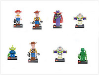 Buzz Lightyear Wholesale 8 item Mini Figures Toy Story Building Toys Woody Buzz Lightyear Blocks toys
