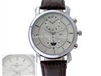 High quality Business brand men's military luxury casual calendar watch,quartz sport leather watch good gift Free shipp 8603-2