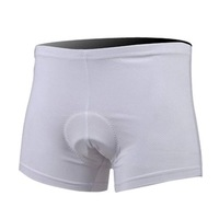 New Universal White Cycling Underwear Bike Padded Bicycle Base Shorts