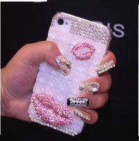 Clear Diamond Bling Case For Apple iPhone 5 5S 5C 4 4s iPhone5 Cases Samsung Galaxy S4 S3 Note 2 3
