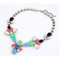 YXSP743      2014 new fashion   Geometric color resin   necklace for women