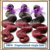 Grade 6A Rosa hair products Peruvian virgin hair Ombre hair extension 3/4 pcs lot Two Tone human hair extensions cheap body wave