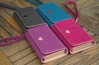 Lady Women PU Leather Zipper Handbag Wallet Clutch Purse Evening Bag Purse Phone Case Cover for iPhone4 4S/5 Samsung S2/S3