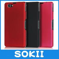 Sokii,For Sony Xperia Z1 mini M51W Z1 Compact hard rubber cover,Hybrid Hard Case Cover For Xperia Z1 mini M51W cover+Screen Film