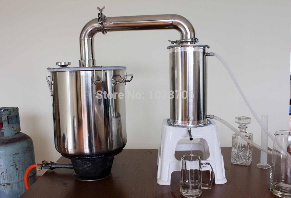 25 litre distillation of pure water wine vodka Alcohol Moonshine Pot Still Ethanol Home Brew Equipment restorant bar tequilla(China (Mainland))