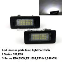 Excellent Ultrabright 3528 Epistar Led License plate lamp light for BMW 1 Series E82 E88,3 Series E90,E91,E92,E93,No OBC error