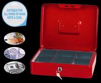 Portable portable key lock safe Cashier Box steel safe box