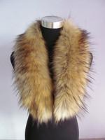 Fox fur collar fur scarf raccoon fur wool muffler scarf vigoreux cap of cape multicolor