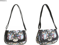 1 piece PU + fabric multifunctional small cross-body female flowers floral small messenger travel bag shoulder bag 4 styles
