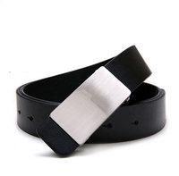 New 2015 Plate classicMen's belt  temperament metrosexual man smooth Shead  belts 3 Color