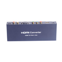 Free Shipping Component Video HDMI to VGA/Ypbpr + R/L/SPDIF Converter Adapter for HDTV DVD Gamebox Camcorder PC/Laptop