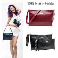 100% Genuine Leather Classic Designer Famous Brand Women Shoulder Messenger Bags Ladies Envelope Clutch Bag Handbag A1478