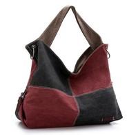 2014 New Women's Fashion Portable Vintage Lattice Canvas Messenger Bag Canvas Handbag K996-b , Free Shipping