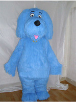 2014 Top selling blue dog Cartoon Mascot Costume Halloween Fursuit Fancy Dress Mascot Costume