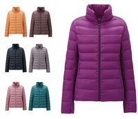 2014 New Autumn and Winter women's white duck down jacket, brand sport coat, sport down jacket,winter thin and light down jacket