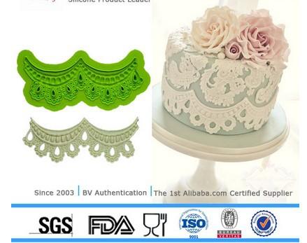 des outils de boulangerie 2014 nouvelle fleur décoration de gâteau moule en silicone de cuisson fondnant dentelles gâteau tapis