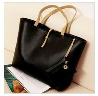 Free shipping Hot selling Simple PU bag vintage messenger bag women's handbag fashion women's bags shoulder bag